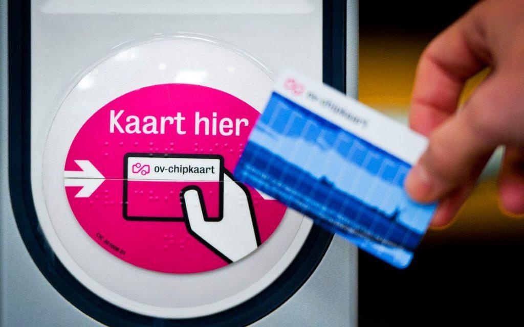 Типічний зчитувач OV-карт в автобусах і трамваях